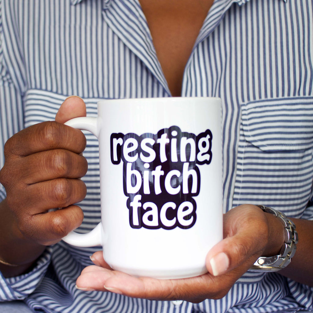 resting bitch face coffee mug