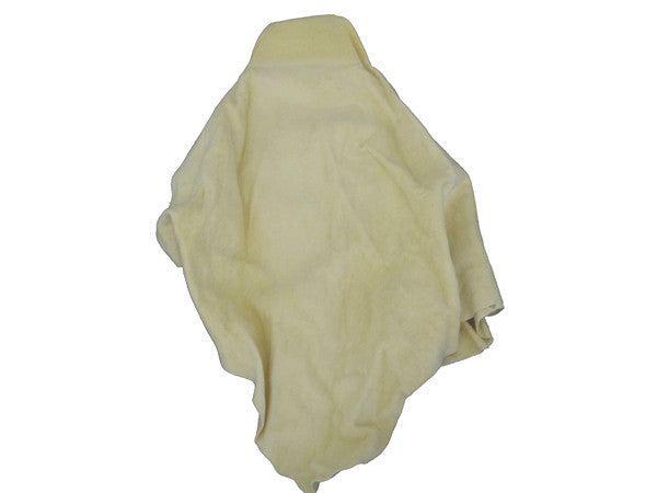 MoonShine's Best Car Chamois (sml) 3.5 sqft - Professionally tanned in Cod Oil