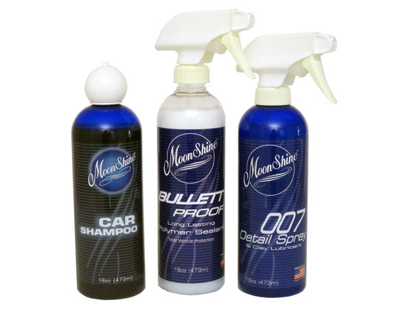 MoonShine Wash, Bullett Proof & 007 - MoonShine Car Care Products