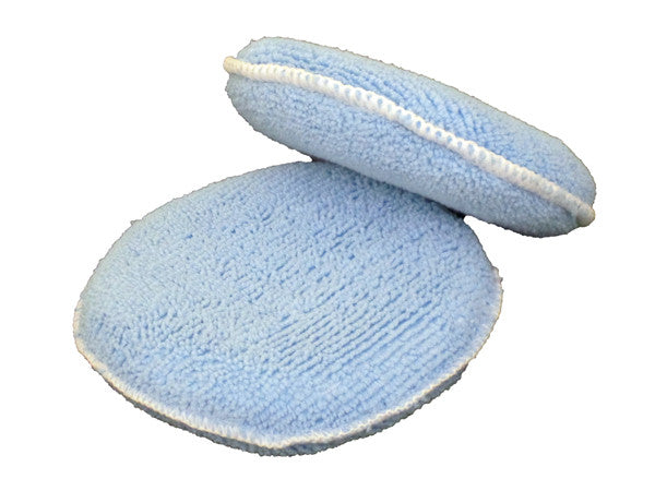 "MoonShine Blue Microfiber Applicators 5"" (2pk) - MoonShine Car Care Products"