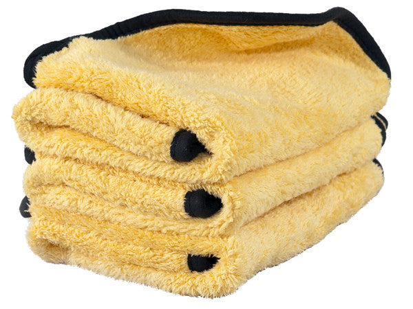ShineMaker Extra Plush Gold Q.D & Buffing Microfiber Towels (3pk) - MoonShine Car Care Products