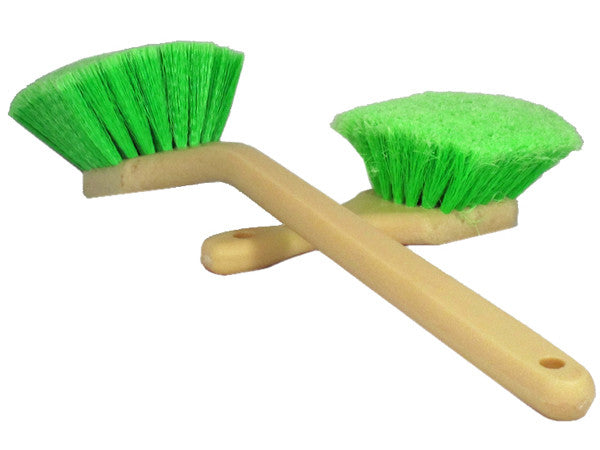 MoonShine Pair of Green Tire and Wheel Brushes