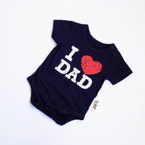 """I Heart Dad"" Onesie"