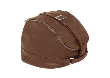 Helmet Bag - saddle real leather