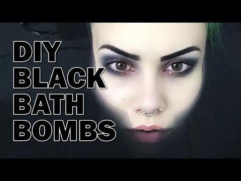 DIY BLACK BATH BOMBS