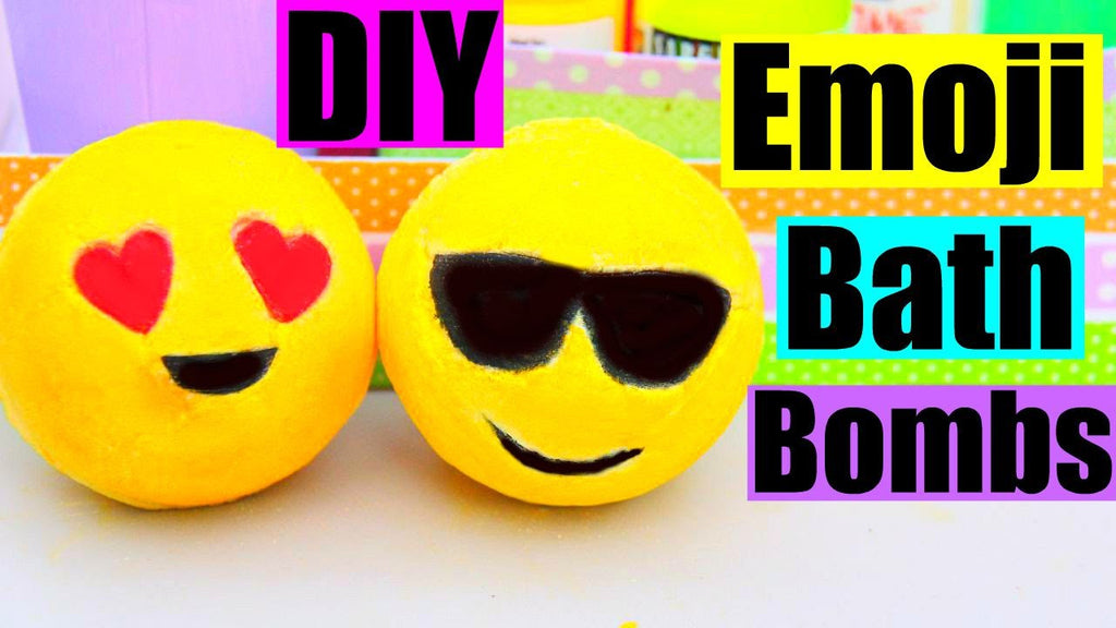 DIY EMOJI BATH BOMBS by Karina Garcia!