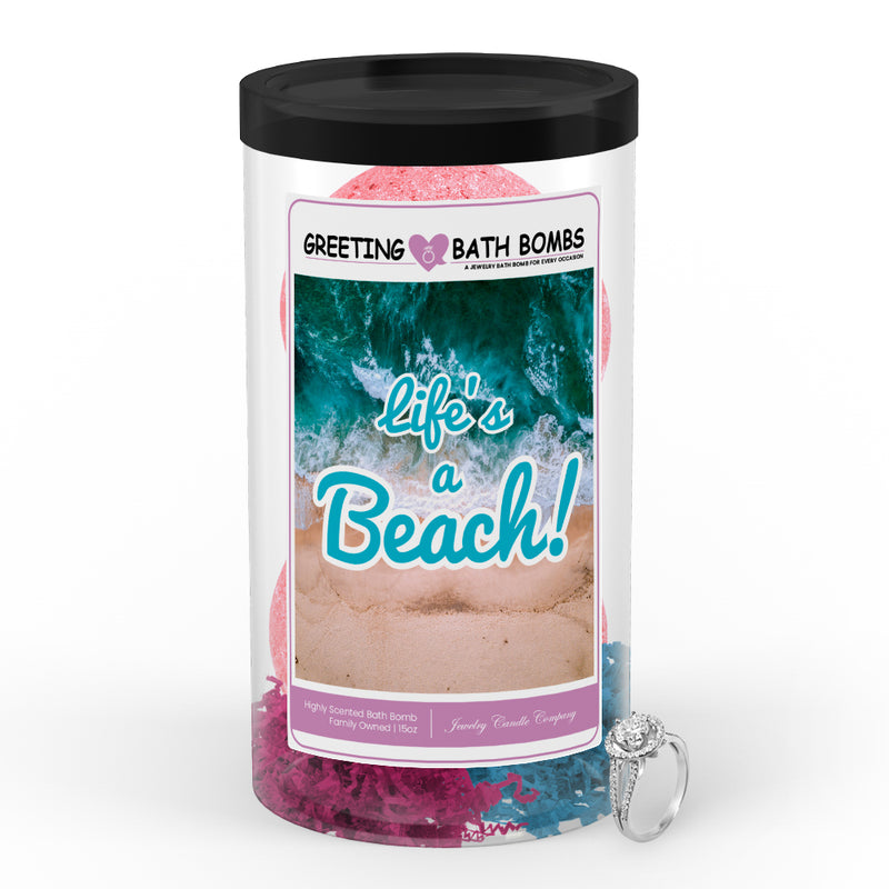 Life's a beach Greetings Bath Bombs