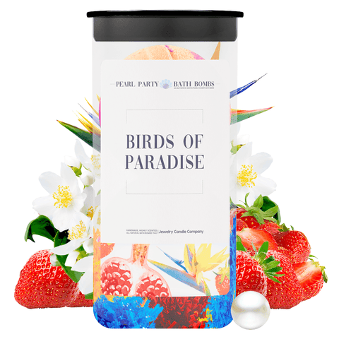 Birds of Paradise Pearl Party Bath Bombs Twin Pack - BathBombs.Com