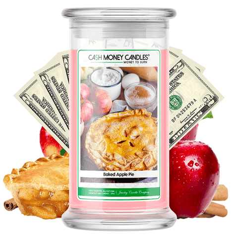 Baked Apple Pie Cash Money Candle - BathBombs.Com