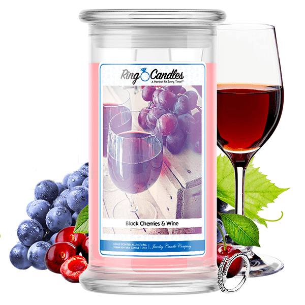 Black Cherries & Wine Ring Candle - BathBombs.Com