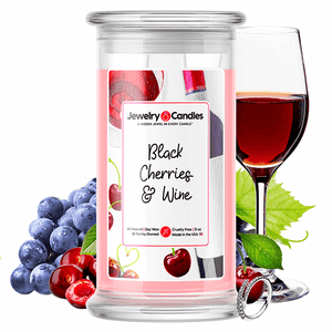 Black Cherries & Wine Jewelry Candle - BathBombs.Com