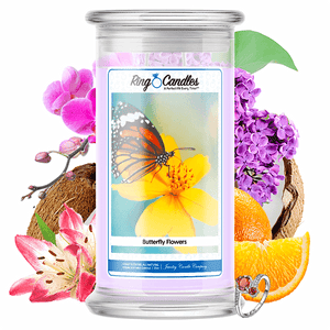Butterfly Kisses Ring Candle - BathBombs.Com