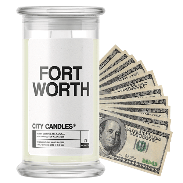 Fort Worth City Cash Candle - BathBombs.Com
