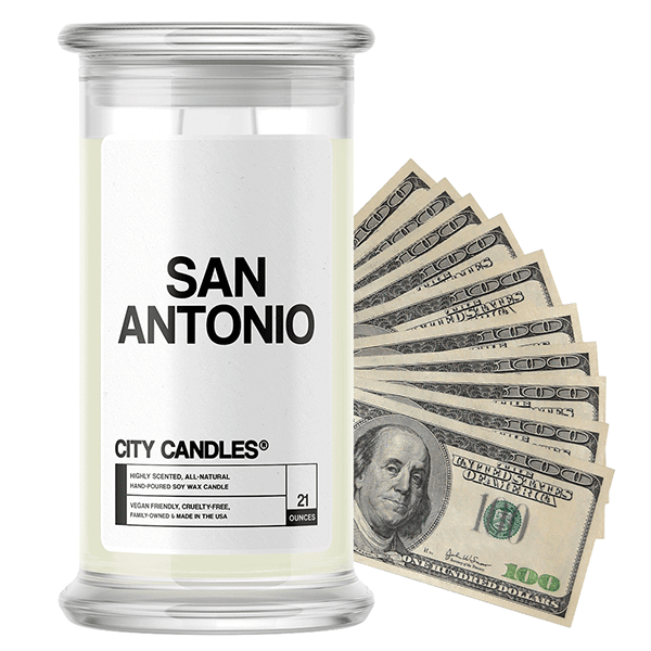 San Antonio City Cash Candle - BathBombs.Com
