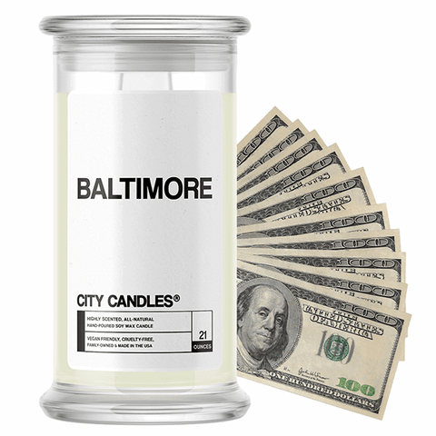 Baltimore City Cash Candle - BathBombs.Com
