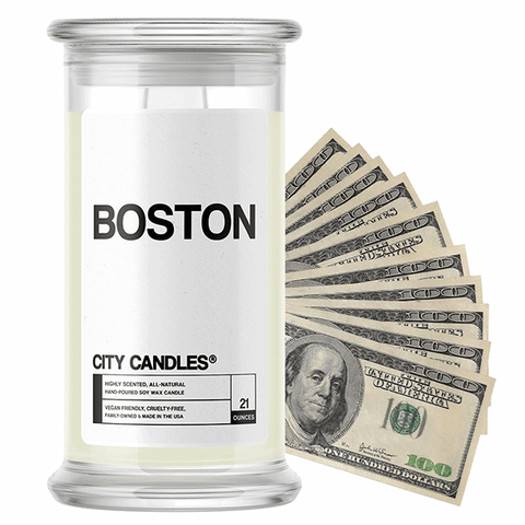 Boston City Cash Candle - BathBombs.Com