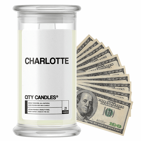 Charlotte City Cash Candle - BathBombs.Com