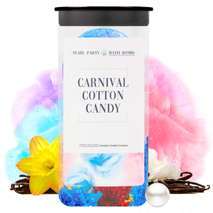 Carnival Cotton Candy Pearl Party Bath Bombs Twin Pack - BathBombs.Com