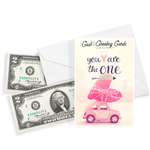 You Are The One Cash Greeting Card - BathBombs.Com