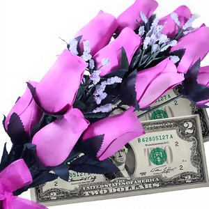 Pink Bouquet Cash Roses - BathBombs.Com