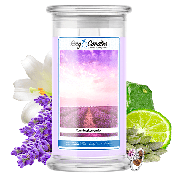 Calming Lavender Ring Candle - BathBombs.Com
