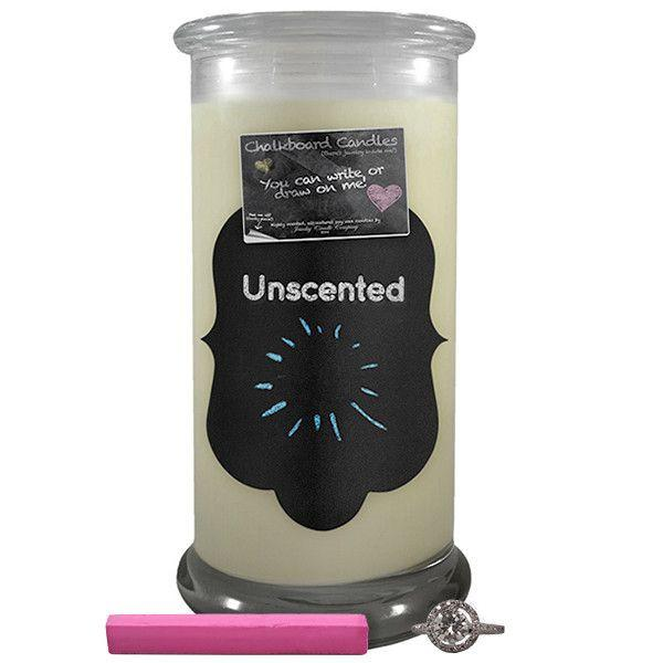 Unscented | Chalkboard Candle - BathBombs.Com