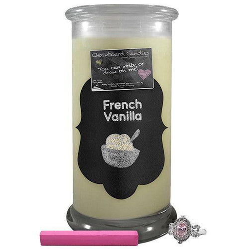 French Vanilla | Chalkboard Candle - BathBombs.Com