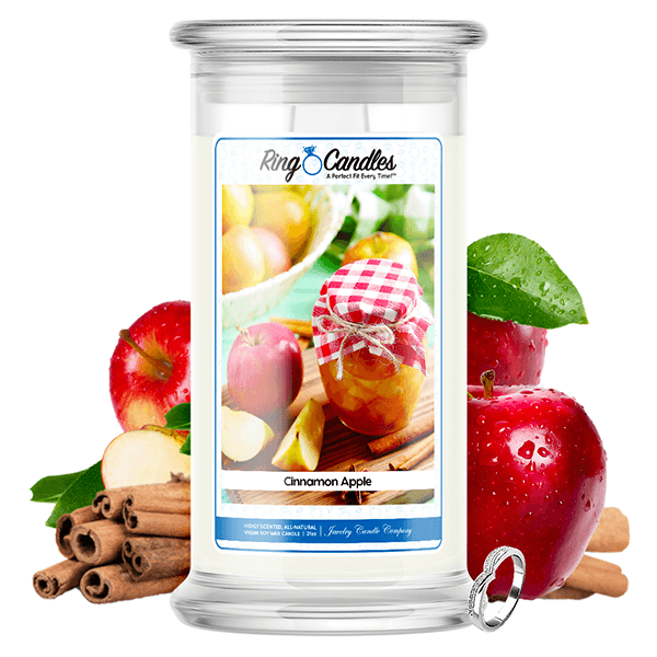 Cinnamon Apple Ring Candle - BathBombs.Com