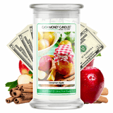 Cinnamon Apple Cash Money Candle - BathBombs.Com