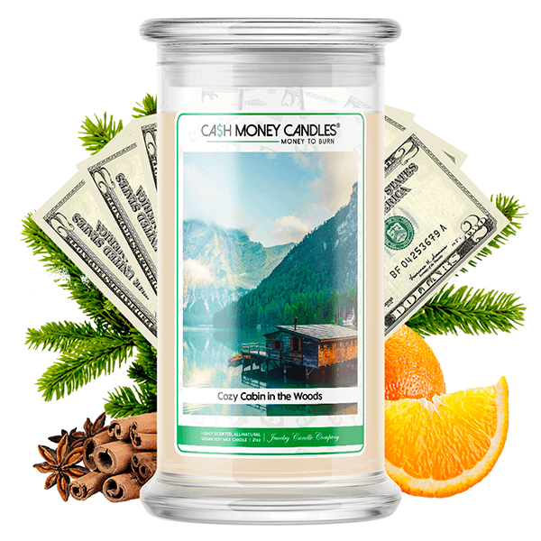 Cozy Cabin in the Woods Cash Money Candle - BathBombs.Com
