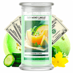 Cucumber & Melon Cash Money Candle - BathBombs.Com