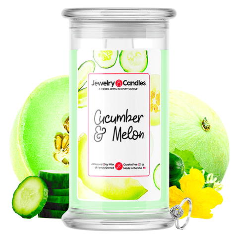 Cucumber & Melon Jewelry Candle - BathBombs.Com