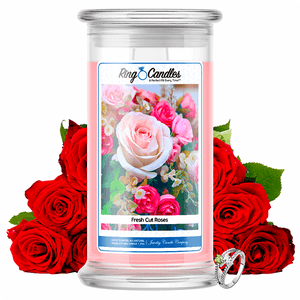 Fresh Cut Roses Ring Candle - BathBombs.Com