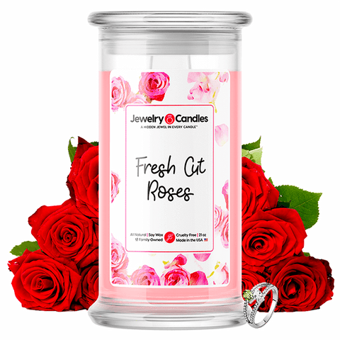 Fresh Cut Roses Jewelry Candle - BathBombs.Com