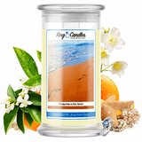 Footprints In The Sand Ring Candle - BathBombs.Com