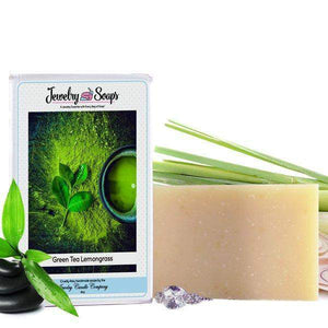 Green Tea Lemongrass Jewelry Soap (Comes with Jewel!)-Jewelry Soaps-The Official Website of Jewelry Candles - Find Jewelry In Candles!