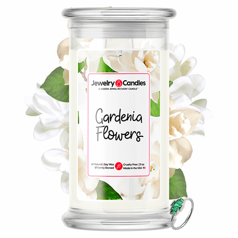 Gardenia Flowers Jewelry Candle - BathBombs.Com