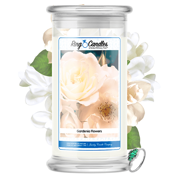 Gardenia Flowers Ring Candle - BathBombs.Com