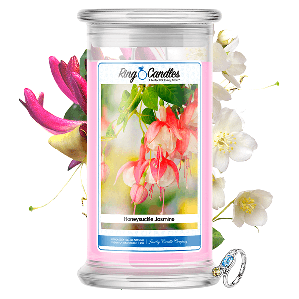 Honeysuckle Jasmine Ring Candle - BathBombs.Com