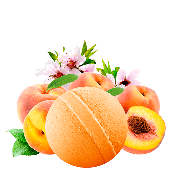 Just Peachy Dollar Bath Bomb - BathBombs.Com