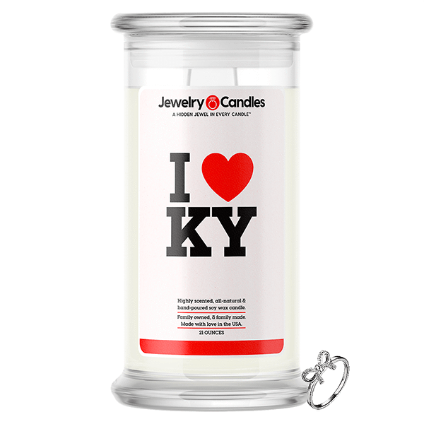 I Love KY Jewelry Love Candle - BathBombs.Com