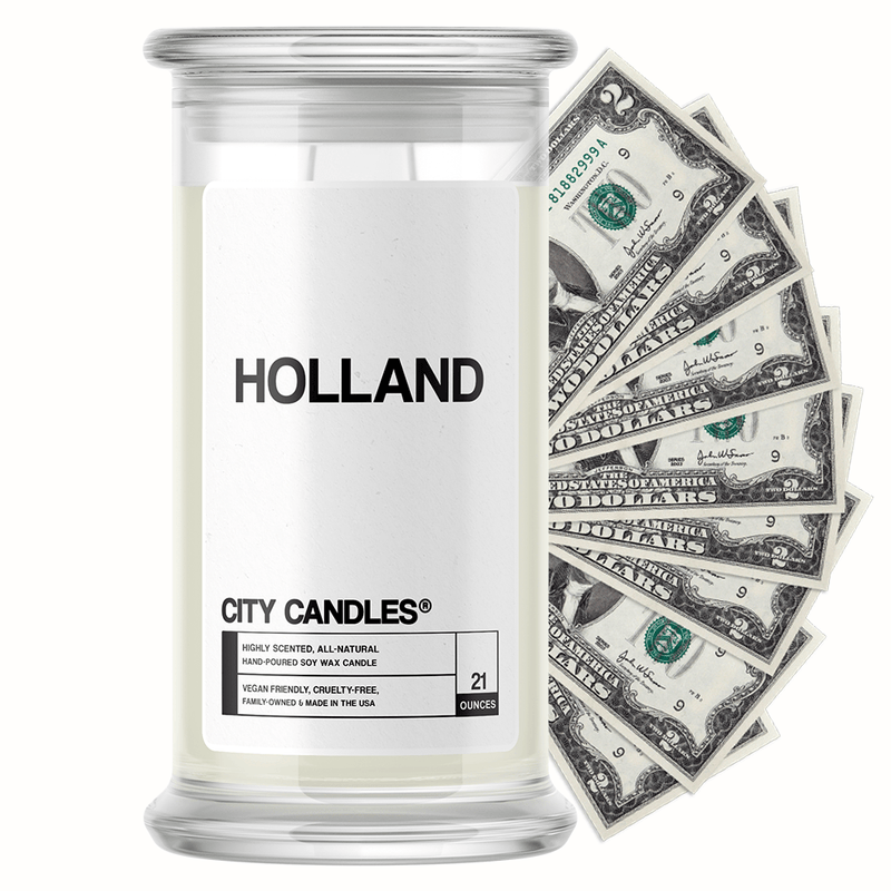 Holland City Cash Candle - BathBombs.Com