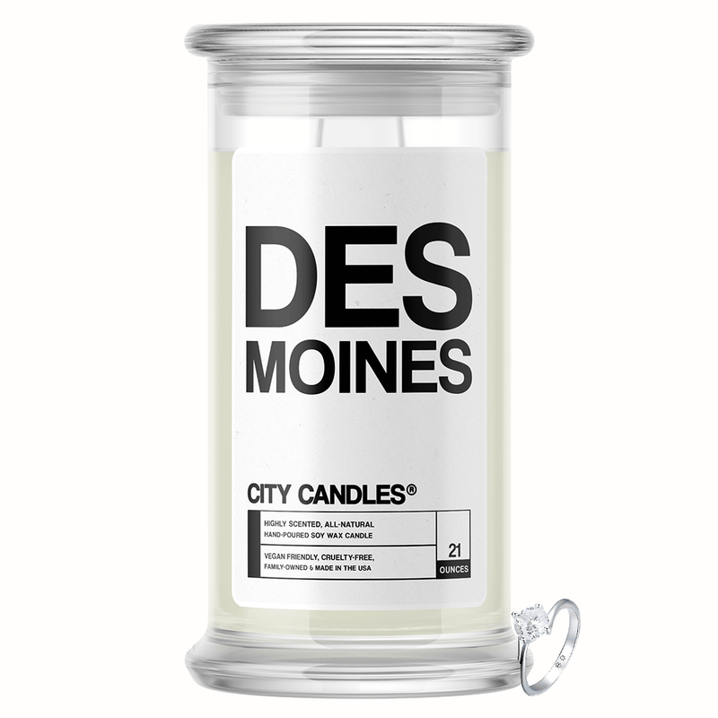 Des Moines City Jewelry Candle - BathBombs.Com