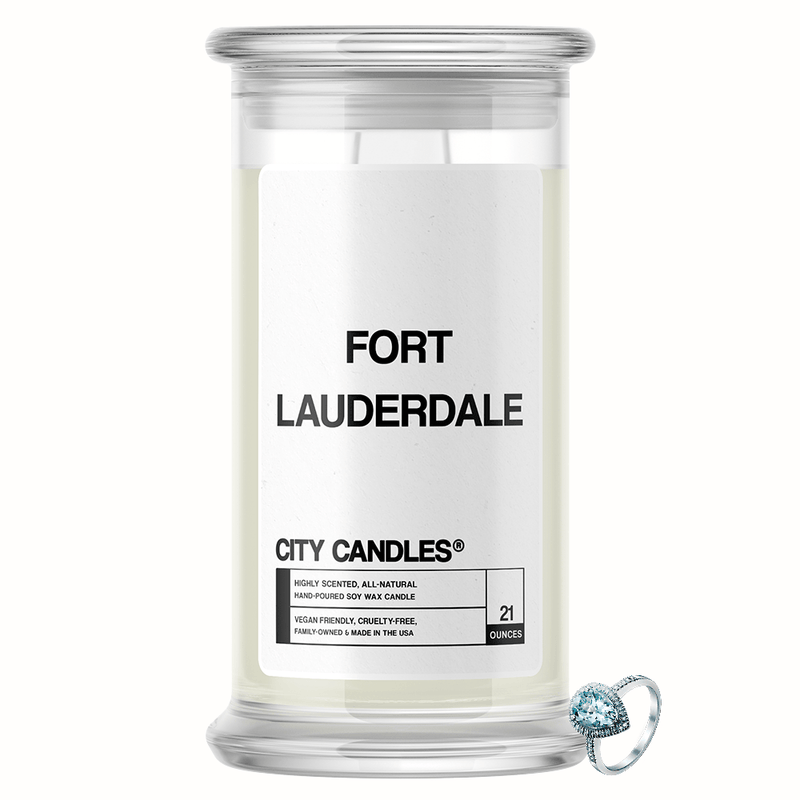 Fort Lauderdale City Jewelry Candle - BathBombs.Com