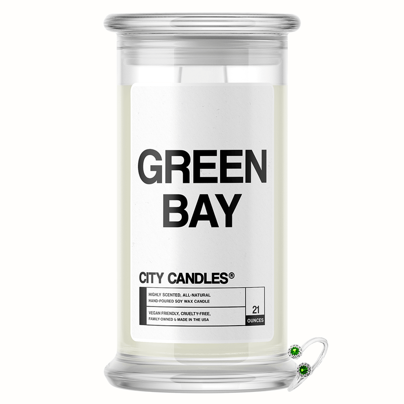 Green Bay City Jewelry Candle - BathBombs.Com
