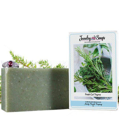 Fresh Cut Thyme Jewelry Soap (Comes with Jewel!)-Jewelry Soaps-The Official Website of Jewelry Candles - Find Jewelry In Candles!