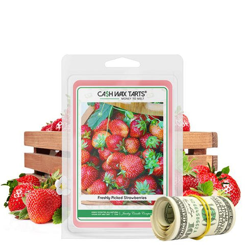Freshly Picked Strawberries | Cash Wax Melt-Cash Wax Melts-The Official Website of Jewelry Candles - Find Jewelry In Candles!