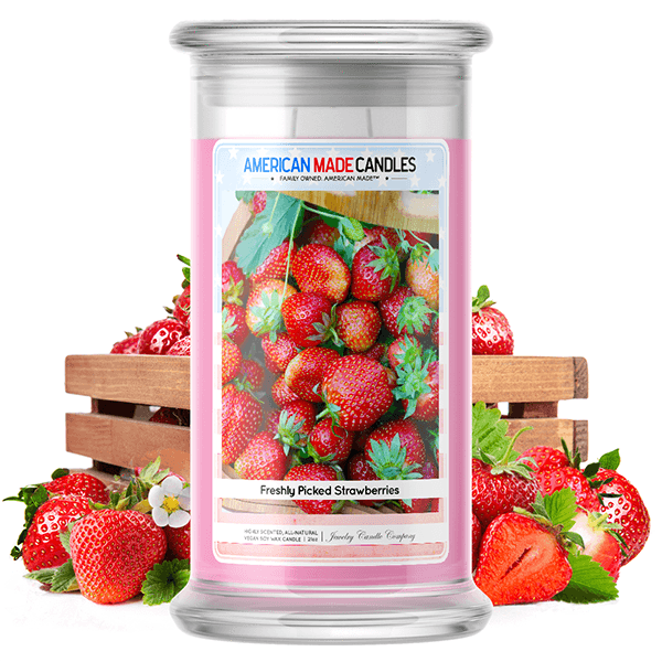 Freshly Picked Strawberries | American Made Candle® - BathBombs.Com