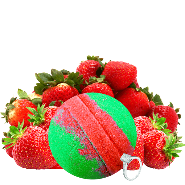 Strawberry Fields | Single Jewelry Bath Bomb® - BathBombs.Com
