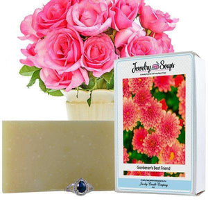 Gardener's Best Friend Jewelry Soap (Comes with Jewel!)-Jewelry Soaps-The Official Website of Jewelry Candles - Find Jewelry In Candles!